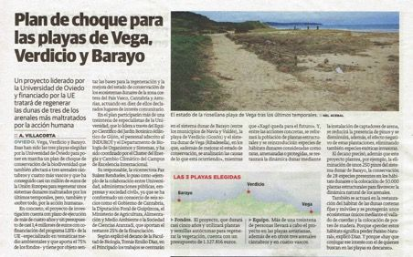 """Emergency plan for the Vega, Verdicio and Barayo beaches"""