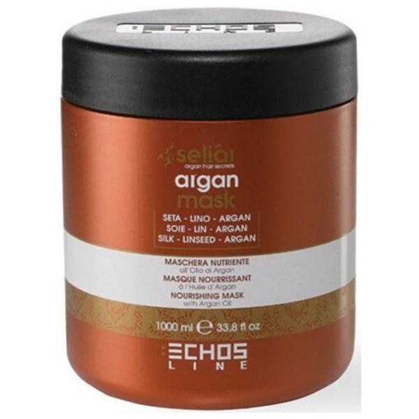 ARCosmetici nourishing argan mask seliar 1000ml linseed oil silk proteins idratante ph 45 echos line