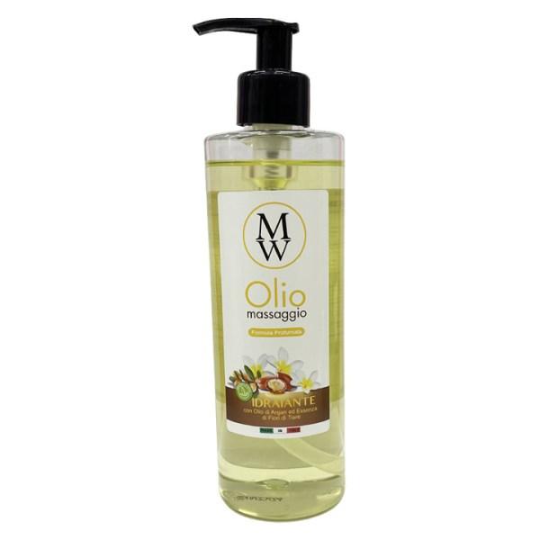 ARCosmetici olio da massaggio idratante con olio di argan ed essenze di fiori di tiare mw 400ml