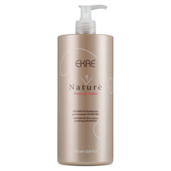 shampoo purificante per forfora alla pesca ortica nature 1000ml