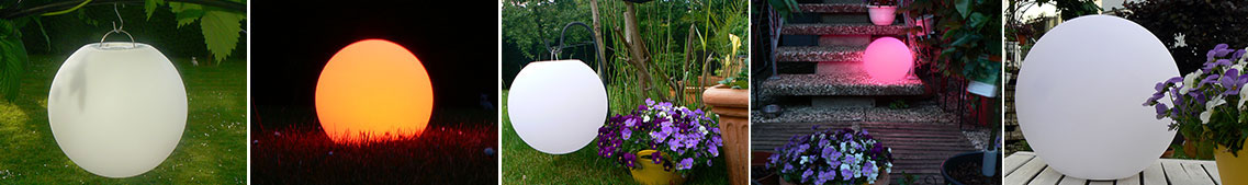 LED Gartenbeleuchtung, Kugelleuchten