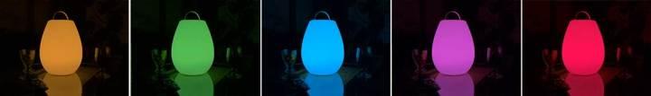 LED Tischlampe, Tischlaterne mit Farbwechseln