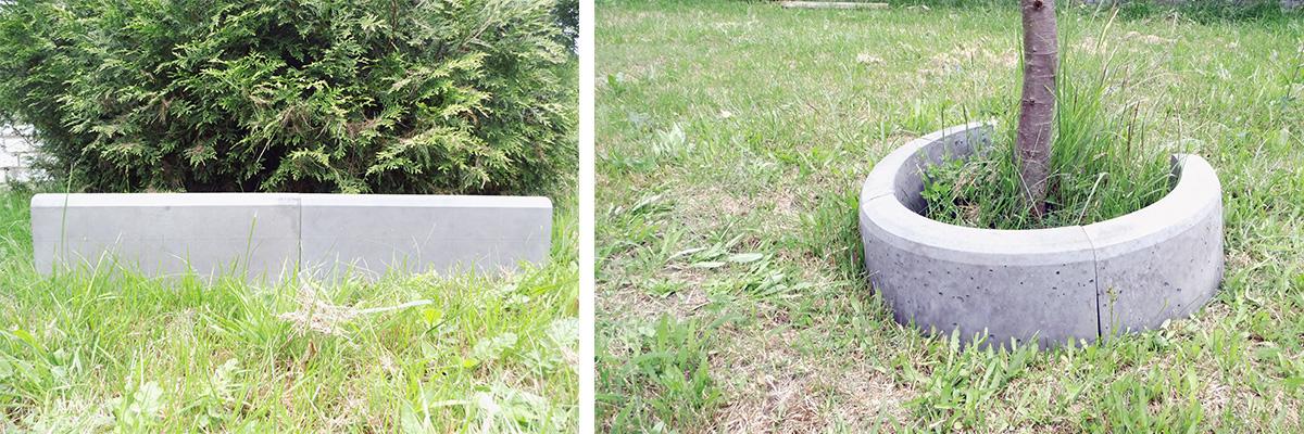 Betonformen für Rasennkanten und Baumumrandung