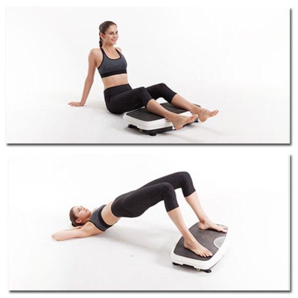 Vibrationsplatte - Übungen, Unterschenkelhaltung