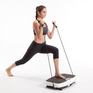 Vibrationsplatte - Übungen, Einzelfuß-Haltung & Gebeugte Haltung