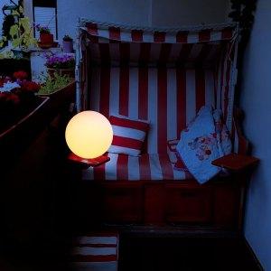 Kabellose 25cm LED Kugelleuchte für Balkon, Balkonleuchte