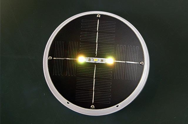 @tec Solarleuchte, ein Solarpanel mit zwei RGB LED Dioden