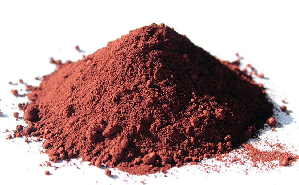 Eisenoxid rot, Farbpigment, Pigmentpulver für Beton und Gips