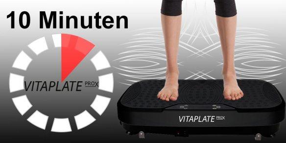 Vibrationstraining mit Vibrations-Gerät, Vitaplate PRO X