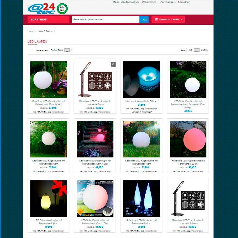 attec24-Onlineshop für Haus, Garten und LED Beleuchtung