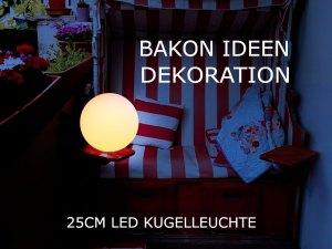 Balkon Ideen- LED Kugelleuchte 25cm