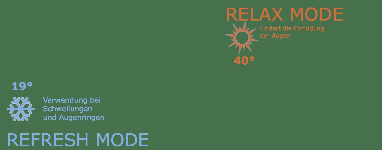 Eye Relax, Augenmassagegerät mit Refresh und Relay Mode