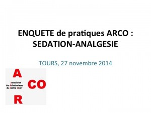 ENQUETE ARCO SEDATION-ANALGESIE.2014