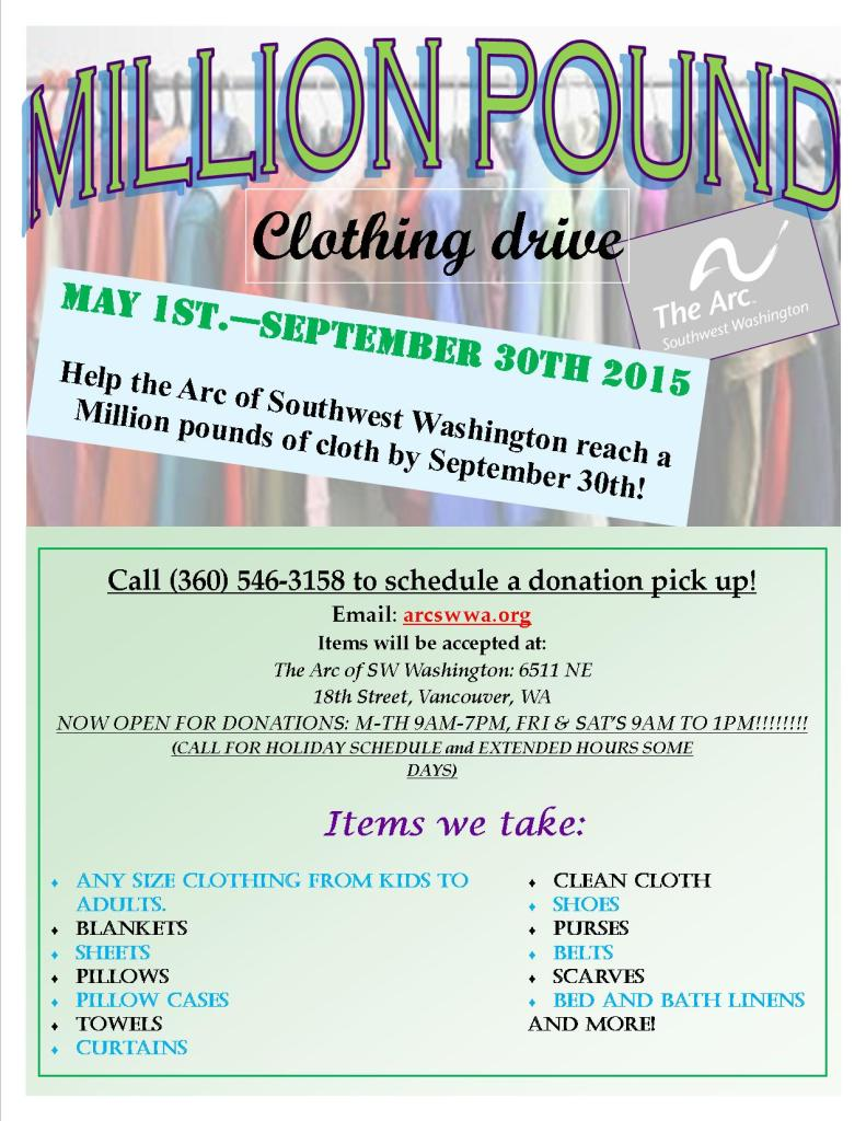 Million pound clothing drive flyerjpg