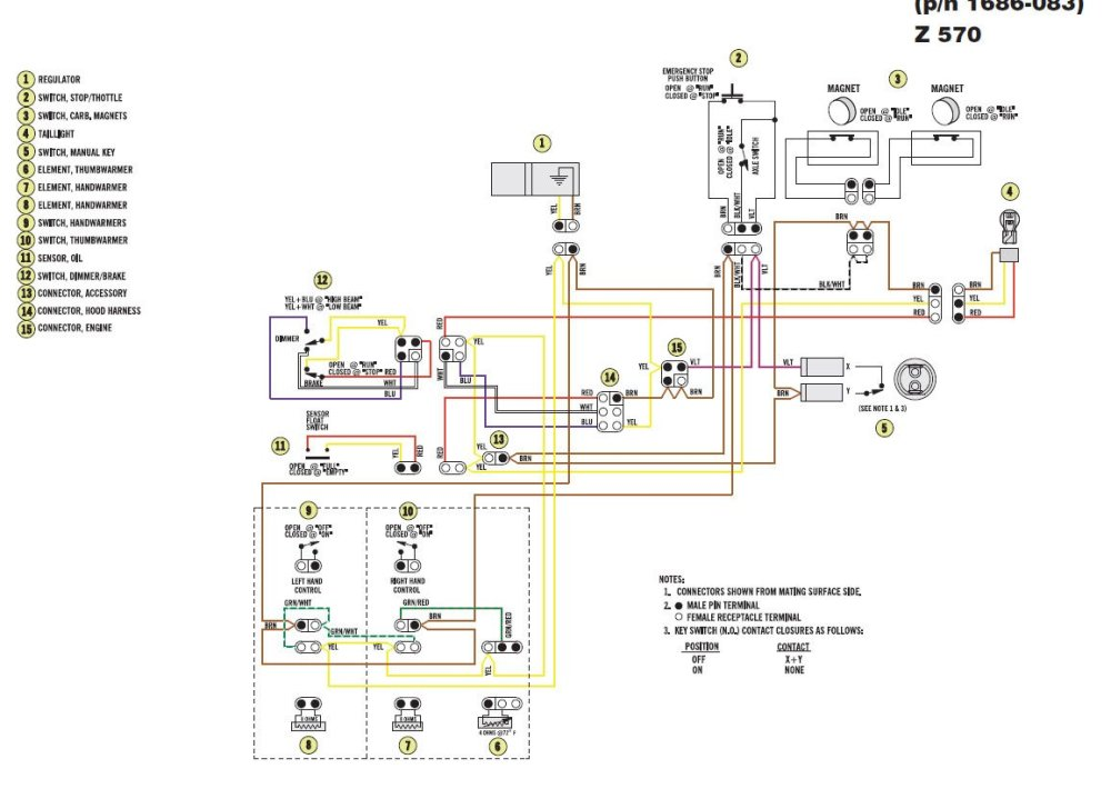 medium resolution of head light wiring diagram yamaha srx 700 wiring library04 arctic cat 300 4x4 wiring harness 36