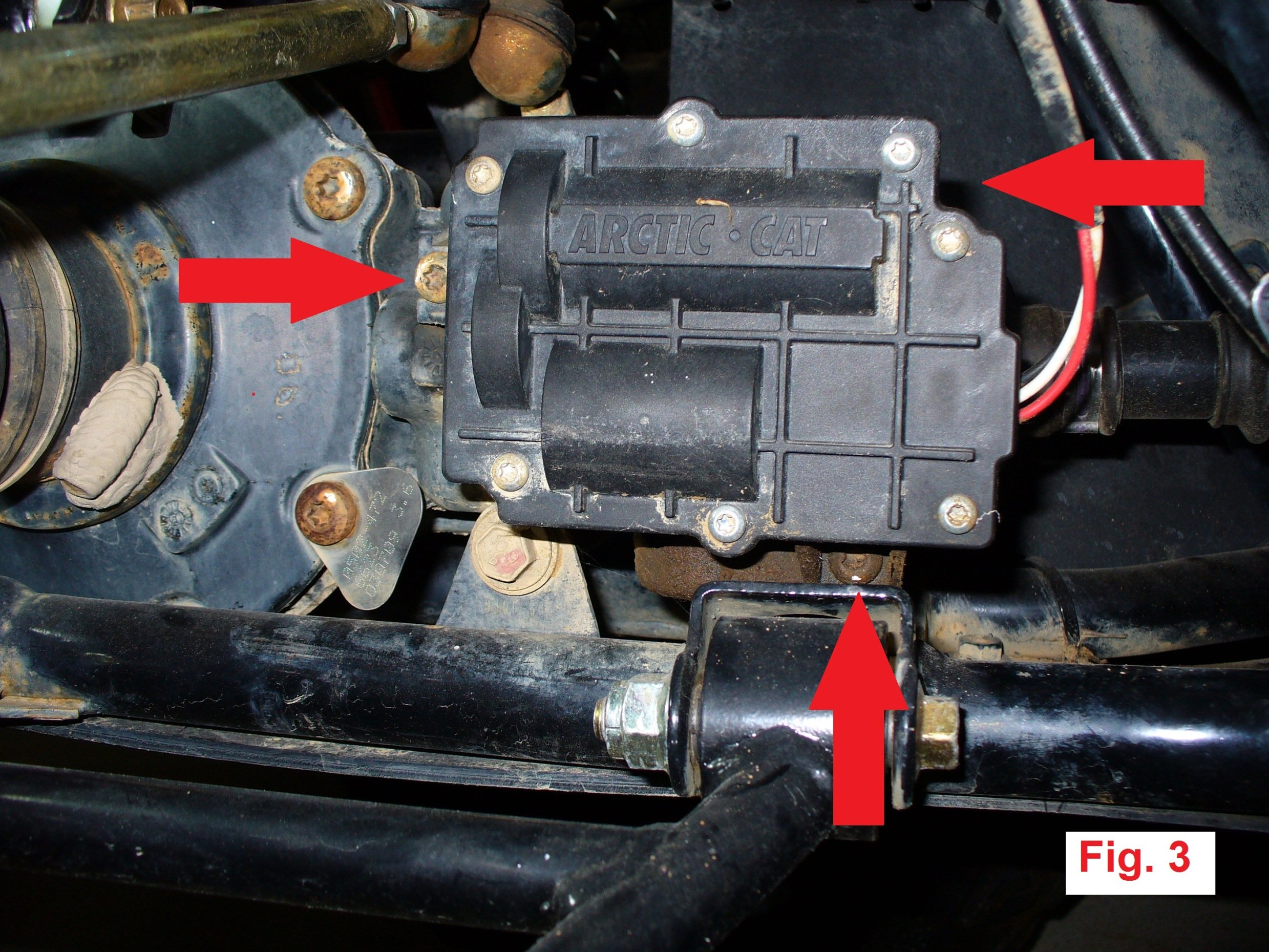 how to wire a garage diagram race car alternator wiring 4wd actuator 0502-296 (3-wire) removal, disassembly, and waterproofing guide - arcticchat.com ...