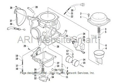 polaris sportsman 90 parts diagram 2010 ford f150 stereo wiring arctic cat 2006 atv 500 automatic transmission 4x4 fis red le [parts manual] - servicemanualspro