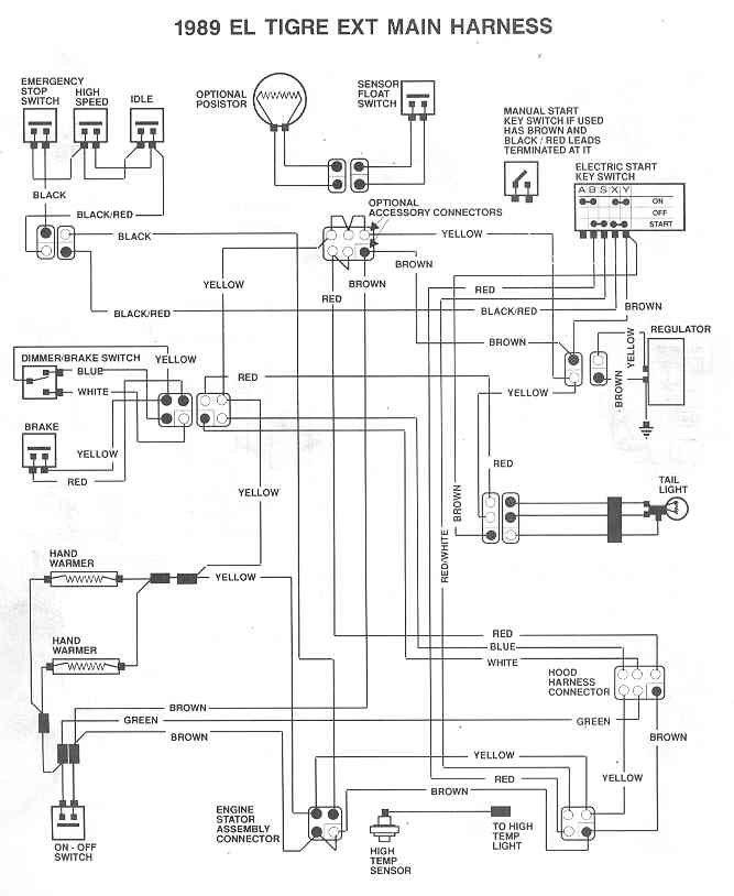 snowmobile wire diagram