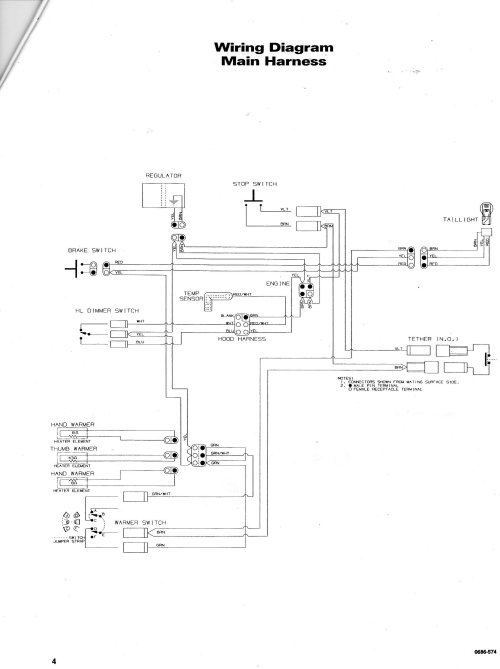 small resolution of 1998 arctic cat jag 440 wiring diagram
