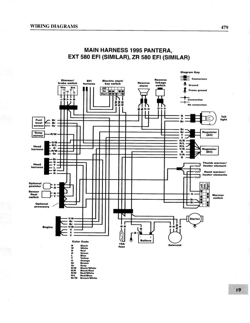1994 Arctic Cat Wildcat 700 Efi Wiring Diagram : 46 Wiring