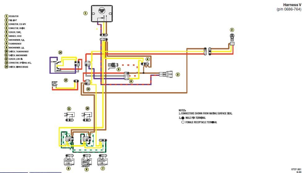 arctic cat cougar 440 snowmobile wiring diagram
