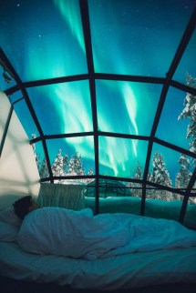 Finland Igloo Hotel - Kakslauttanen. Under