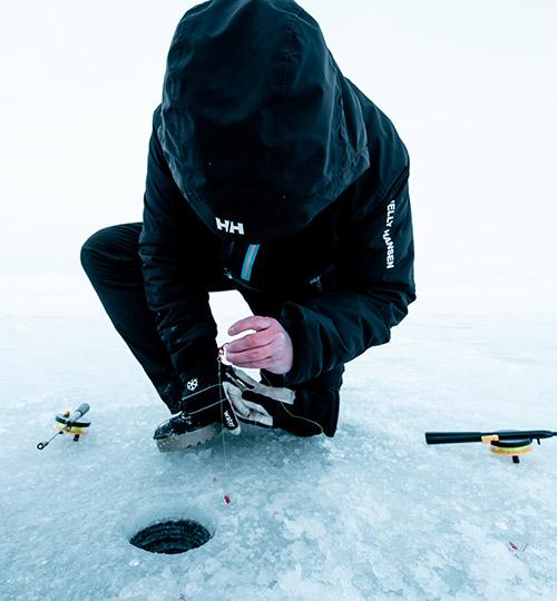 Angler on ice