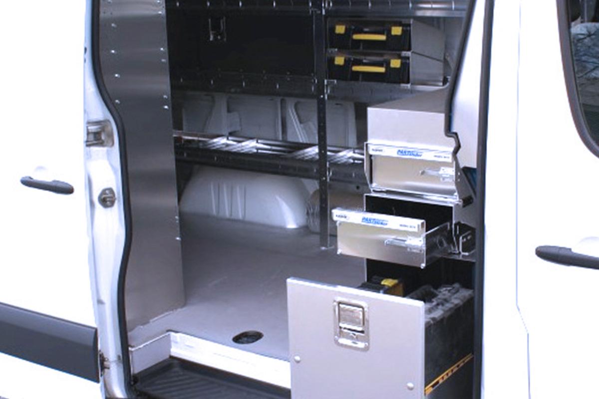 Arctic Vans Custom Shelving