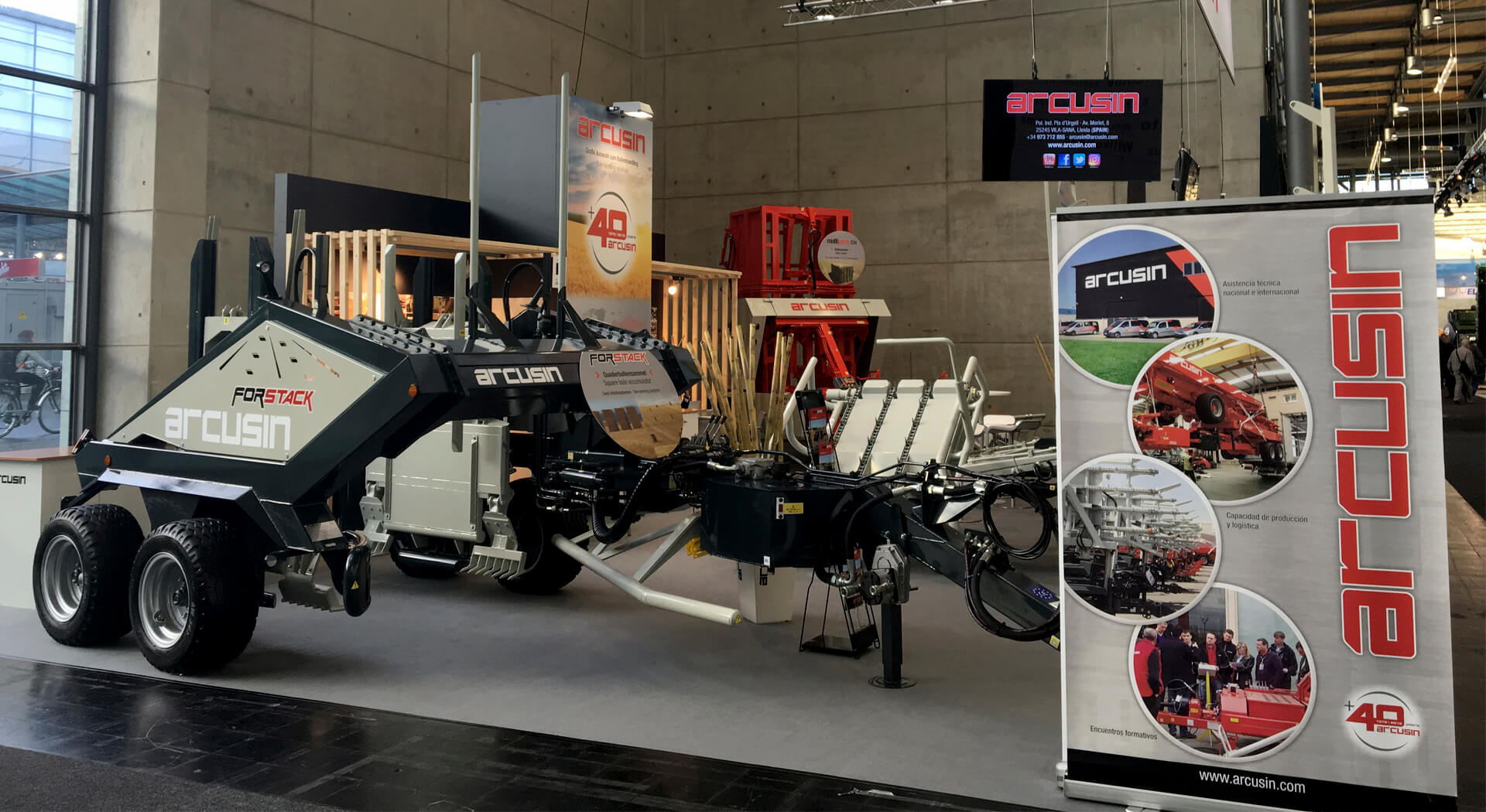 ARCUSIN AGRITECHNICA 2017 BALE HANDLING SOLUTIONS