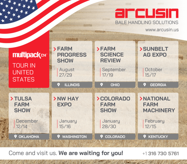 MULTIPACK TOUR IN THE UNITED STATES ARCUSIN BALE PACKER