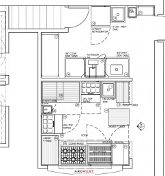 plimoth commercial kitchen design by arcwest 917x1024 the restaurant design  [ 917 x 1024 Pixel ]