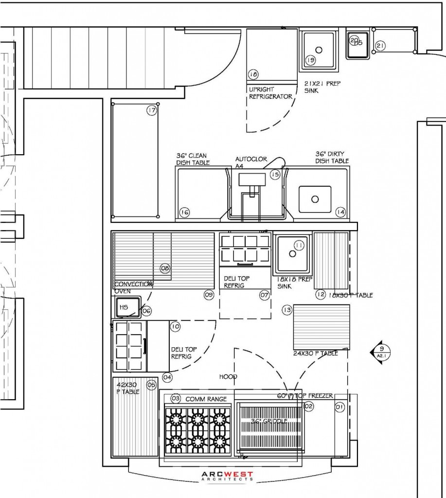 medium resolution of plimoth commercial kitchen design by arcwest 917x1024 the restaurant design