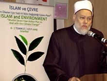 Sheikh Ali Gomaa, The Grand Mufti of Egypt, speaking at the historic meeting in Istanbul.