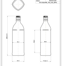 square spirit bottle 700ml [ 1240 x 1753 Pixel ]