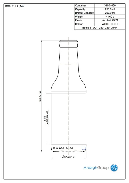 small resolution of bottle std01 250 c30 29nf