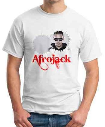 Afrojack T-Shirt Crew Neck Short Sleeve Men Women Tee DJ Merchandise Ardamus.com