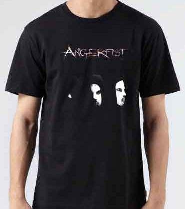 Angerfist Logo T-Shirt Crew Neck Short Sleeve Men Women Tee DJ Merchandise Ardamus.com