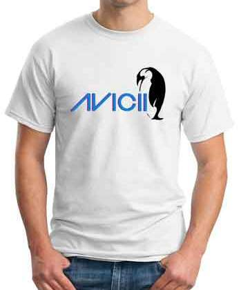 Avicii Penguin T-Shirt Crew Neck Short Sleeve Men Women Tee DJ Merchandise Ardamus.com