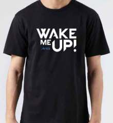 Avicii Wake Me Up T-Shirt Crew Neck Short Sleeve Men Women Tee DJ Merchandise Ardamus.com