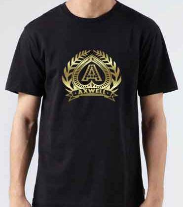 Axwell Logo T-Shirt Crew Neck Short Sleeve Men Women Tee DJ Merchandise Ardamus.com
