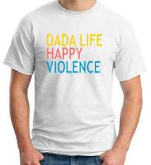 Dada Life T-Shirt Happy Violence Crew Neck Short Sleeve Men Women Tee DJ Merchandise Ardamus.com