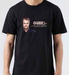 Dash Berlin Music Is Life T-Shirt Crew Neck Short Sleeve Men Women Tee DJ Merchandise Ardamus.com