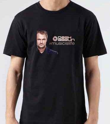 Dash Berlin Music Is Life T-Shirt Crew Neck Short Sleeve Men Women Tee DJ Merchandise Ardamus.com
