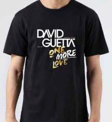 David Guetta One More Love T-Shirt Crew Neck Short Sleeve Men Women Tee DJ Merchandise Ardamus.com