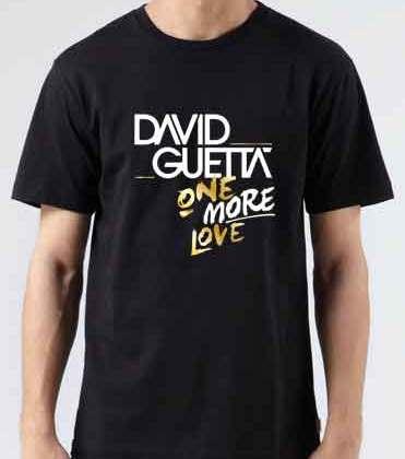 David Guetta One More Love T-Shirt Crew Neck Short Sleeve Men Women Tee DJ Merchandise Ardamus.com