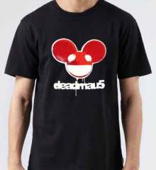Deadmau5 Head Stencil T-Shirt Crew Neck Short Sleeve Men Women Tee DJ Merchandise Ardamus.com