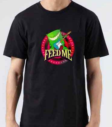 Feed Me T-Shirt Crew Neck Short Sleeve Men Women Tee DJ Merchandise Ardamus.com