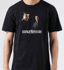 Gunz for Hire T-Shirt Crew Neck Short Sleeve Men Women Tee DJ Merchandise Ardamus.com