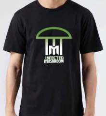 Infected Mushroom Logo T-Shirt Crew Neck Short Sleeve Men Women Tee DJ Merchandise Ardamus.com