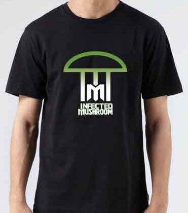 Infected Mushroom Logo T-Shirt Crew Neck Short Sleeve Men Women Tee DJ Merchandise Ardamus.com